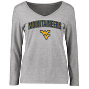 West Virginia Mountaineers Women's Proud Mascot Long Sleeve T-Shirt - Ash