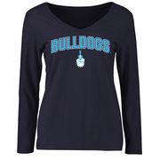 Citadel Bulldogs Women's Proud Mascot Long Sleeve T-Shirt - Navy