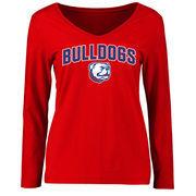 Louisiana Tech Bulldogs Women's Proud Mascot Long Sleeve T-Shirt - Red