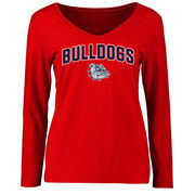 Gonzaga Bulldogs Women's Proud Mascot Long Sleeve T-Shirt - Red