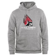 Ball State Cardinals Big & Tall Classic Primary Pullover Hoodie - Ash