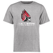 Ball State Cardinals Big & Tall Classic Primary T-Shirt - Ash