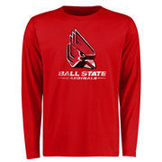 Ball State Cardinals Big & Tall Classic Primary Long Sleeve T-Shirt - Red