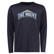Mount St. Mary's Mountaineers Big & Tall Classic Primary Long Sleeve T-Shirt - Navy