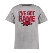 Arkansas Razorbacks Youth Got Game T-Shirt - Ash