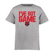 Arkansas State Red Wolves Youth Got Game T-Shirt - Ash