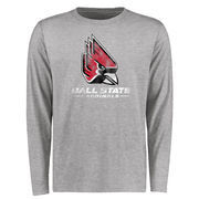Ball State Cardinals Big & Tall Classic Primary Long Sleeve T-Shirt - Ash
