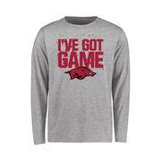 Arkansas Razorbacks Youth Got Game Long Sleeve T-Shirt - Ash
