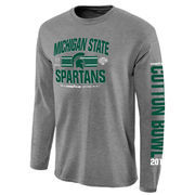 Michigan State Spartans College Football Playoff 2015 Cotton Bowl Bound 3rd Down Long Sleeve T-Shirt - Gray