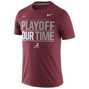 Alabama Crimson Tide Nike 2016 College Football Playoff Bound Our Time T-Shirt - Crimson