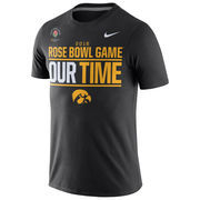 Iowa Hawkeyes Nike 2016 Rose Bowl Bound Our Time T-Shirt - Black