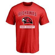 Miami University RedHawks Campus Icon T-Shirt - Red