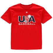Team USA Majestic Youth Baseball T-Shirt - Red