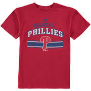 Philadelphia Phillies adidas Youth Vintage Knit T-Shirt - Red