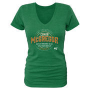 Conor McGregor UFC 194 Women's Knockout History Tri-Blend T-Shirt - Green
