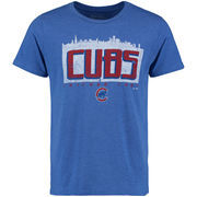 Chicago Cubs Majestic Threads Initial Skyline Premium Tri-Blend T-Shirt - Royal