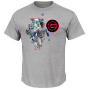 Anthony Rizzo Chicago Cubs Majestic The Bigger Prize Player T-Shirt - Gray