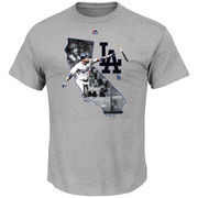Yasiel Puig Los Angeles Dodgers Majestic The Bigger Prize Player T-Shirt - Gray