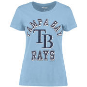 Tampa Bay Rays G-III Sports by Carl Banks Women's On Deck Scoop Neck T-Shirt - Light Blue