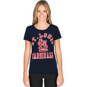 St. Louis Cardinals G-III Sports by Carl Banks Women's On Deck Scoop Neck T-Shirt - Navy