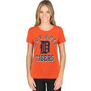 Detroit Tigers G-III Sports by Carl Banks Women's On Deck Scoop Neck T-Shirt - Orange