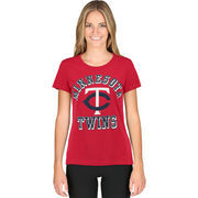 Minnesota Twins G-III Sports by Carl Banks Women's On Deck Scoop Neck T-Shirt - Red