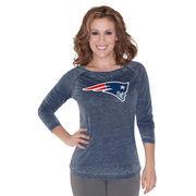 New England Patriots Touch by Alyssa Milano Women's Second Season Boatneck Long Sleeve T-Shirt - Navy