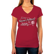 Alabama Crimson Tide Women's College Football Playoff 2015 National Champions V-Neck T-Shirt - Crimson