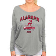Alabama Crimson Tide Women's College Football Playoff 2015 National Champions Relaxed Long Sleeve T-Shirt - Gray