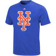 New York Mets Majestic Big & Tall Official Big Logo T-Shirt - Royal