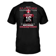 Alabama Crimson Tide College Football Playoff 2015 National Champions Player T-Shirt - Black