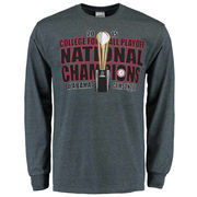 Alabama Crimson Tide College Football Playoff 2015 National Champions Trophy Long Sleeve T-Shirt - Charcoal
