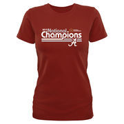 Alabama Crimson Tide Women's College Football Playoff 2015 National Champions Dance T-Shirt - Crimson