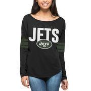 New York Jets '47 Women's Courtside Long Sleeve T-Shirt - Black