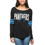 Carolina Panthers '47 Women's Courtside Long Sleeve T-Shirt - Black