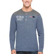 New England Patriots '47 Neps Henley Tri-Blend Long Sleeve T-Shirt - Navy