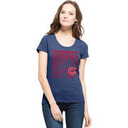 Chicago Cubs '47 Women's Crosstown Scrum Skyline Scoop T-Shirt - Royal
