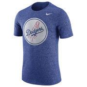 Los Angeles Dodgers Nike Marled T-Shirt - Royal