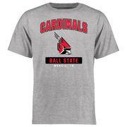 Ball State Cardinals Big & Tall Campus Icon T-Shirt - Ash