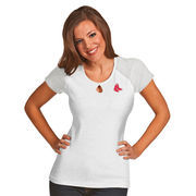 Boston Red Sox Antigua Women's MLB Crush T-Shirt - White/Gray