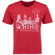 Philadelphia Phillies Majestic Threads City Skyline Softhand Tri-Blend T-Shirt - Red