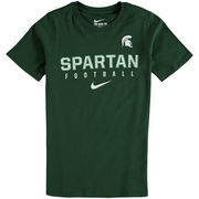 Michigan State Spartans Nike Youth Sideline Core Football T-Shirt - Green