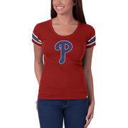 Philadelphia Phillies '47 Women's Off Campus Vintage Logo T-Shirt - Red