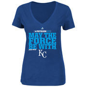 Kansas City Royals Majestic Women's May The Force Be With You T-Shirt - Royal