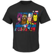 Toronto Blue Jays Majestic Marvel Marks of Hero T-Shirt - Black
