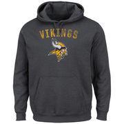 Minnesota Vikings Majestic Kick Return II Pullover Hoodie - Charcoal
