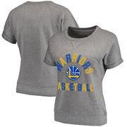 Golden State Warriors Fanatics Branded Women's First Team Modern Crew Neck Sweatshirt - Charcoal