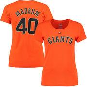 Madison Bumgarner San Francisco Giants Majestic Women's Player Name & Number T-Shirt - Orange