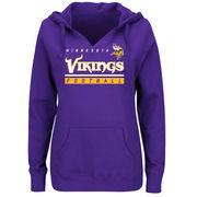 Minnesota Vikings Majestic Women's Self-Determination Pullover Hoodie - Purple