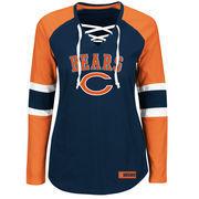 Chicago Bears Majestic Women's Winning Style Long Sleeve T-Shirt - Navy/Orange